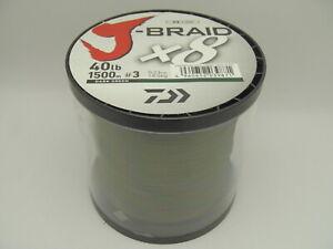 Daiwa J-Braid 1500m 40lb 18.0kg 0.23mm #3 Braided PE x8 Fishing Line