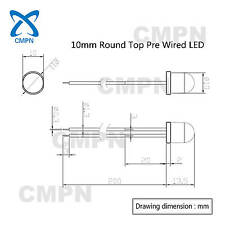 8mm 10mm Pre Wired DC 9-12V Warm White Red Blue Green RGB Flash LED Diodes Light