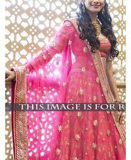 Bollywood Indian Lehenga Pink Party Wear Lengha Wedding Pakistani Lehenga Choli
