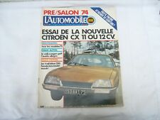 MAGAZINE L'AUTOMOBILE SPORT MECANIQUE n° 340 -  SEPTEMBRE 1974