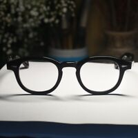Retro Vintage Johnny Depp eyeglasses mens gloss black glasses RX optical eyewear
