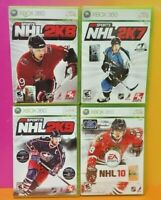 XBOX 360 Sport Game Lot NHL Hockey 10 2K7 2K8 2K9 Tested EA Sports