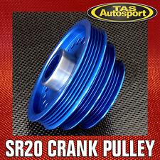 NISSAN SR20DET Underdrive LIGHTWEIGHT CRANK PULLEY Nissan S13 S14 180SX  BLUE