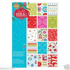 Papermania 32 hojas de papel de lino scrapbooking Pack A4 160gm Folk Navidad