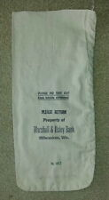 M&I Marshall and Ilsley Bank, Milwaukee WI  Cloth Bank Coin Bags  USED  Style #1
