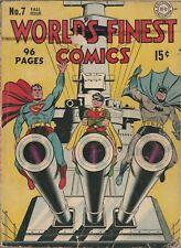 World's Finest #7 (DC Comics) CLASSIC WWII Cover, RARE!