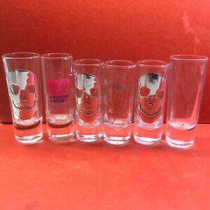 SPIRITS Shot Glasses Job Lot Mixed Bundle x6 Brand New Promotional Items