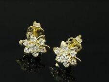 333 Gold Ohrstecker mit 14 Zirkonia Steinen 7,8 mm 1 Paar