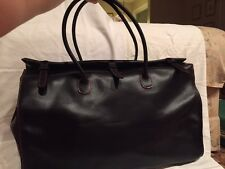 Henry Cuir Beguelin Brown Leather Tote/Over Night Bag w Two Shoulder Straps