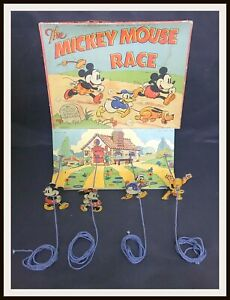 ⭐ Mickey Mouse Race Game - Disney Chad Valley England - 30's - DISNEYANA.IT ⭐