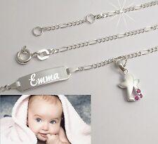 Wunschname Gravur Datum Tauf Armband Taufkette Schutzengel Engel Baby Armkette