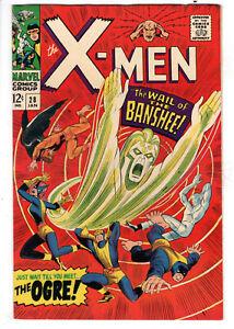 UNCANNY X-MEN #28 (1967) - GRADE 8.0 - FIRST PRINTING - 1ST APPEARANCE BANSHEE!