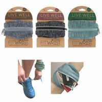 3 Pc Wrist Wallet Pouch Zipper Band Running Arm Travel Gym Sports Money ID Cards