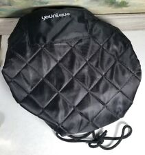 Younique Make Up Hair Cap Hat For Presentations Parties Black Nylon Quilted