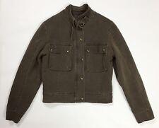 Giubbino giacca giubbotto jacket donna corta usato marrone  S invernale T710