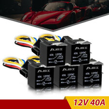 5Pcs DC 12V Car Automotive Relay SPDT 5-Pin 5 Wires Harness Socket 30/40 A