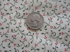 1/2 yd Vintage small scale Trailing vine design fabric Cotton fabric ~