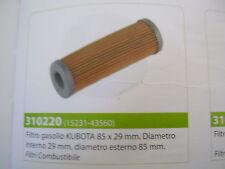 FILTRO GASOLIO KUBOTA 85X29 MM DIAM.INTER.29MM , DIAM.ESTER.85MM