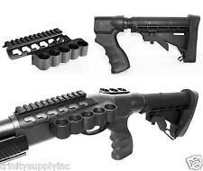 Remington 870 12 Gauge Shotgun Buttstock Stock with Shell Carrier Kit Black.