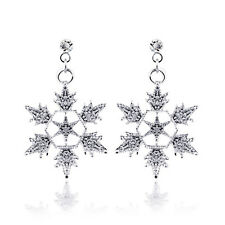 Wedding Crystal Necklace/dangle Dress Snow Sets Snowflake Jewelry Set Pendant
