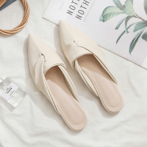 2021 summer new pointed flat-bottomed Muller lazy Baotou half slippers hot