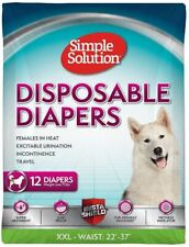 Simple Solution Disposable Dog Diapers for Female Dogs, XXL, 12-Count