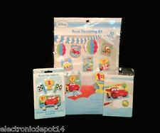 Disney Cars 1st Birthday Room Decorating Kit, Cake Candle Set & Thank you Cards
