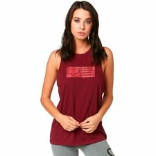 Fox Womens Tracker Airline Tank Top Cranberry S New