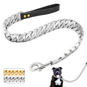 Strong Dog Short Chain Leash Heavy Duty 32MM Stainless Steel Lead for Large Dogs