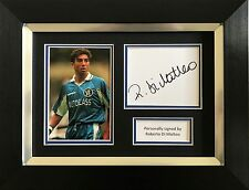 Roberto Di Matteo Firmato a Mano visualizzazione foto Incorniciata Chelsea Autografo.