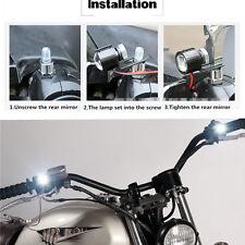 4X12V motocicleta bigote daliniano ligero LED faros luces adicionales Blanco ATV