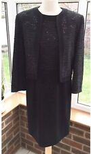 Jaeger Ladies 100% Wool Knitwear Dress And Jacket Suit Size 10 , Stunning