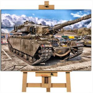 Tank historic centurion mk5 canvas wall art print