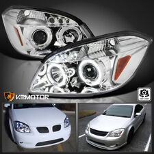 2005-2010 Chevy Cobalt 05-06 Pontiac Pursuit LED Halo Projector Headlights PAIR