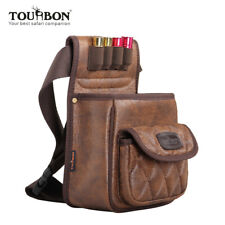 Tourbon Shotgun Cartridge Shell Pouch Belt Waist Leather Ammo Bag 100 Shell Case