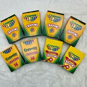 Lot of 8 Boxes Crayola Classic Color Pack Crayons (4-16 Packs & 4-24 Packs)