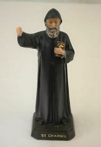9 Inches Saint Charbel Resin Holy Figurine Religion