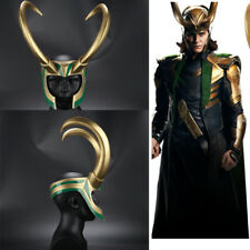 Hot Cakes Thor Loki Helmet Horn Cosplay Accessories Hallowmas Props in store