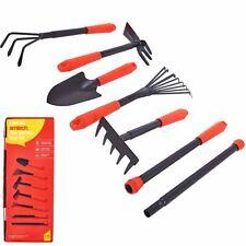 Amtech 7pcs Gardening Hand Tool Set Rake Fork Hoe Trowel Kit Garden Tools