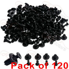 120x 6mm Car Plastic Rivets Hole Dia Fastener Fender Bumper Push Pin Clips Clip