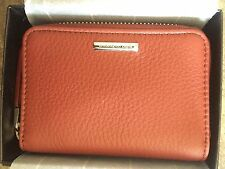 Ermenegildo Zegna Leather Zip Coin Wallet Purse NIB $220