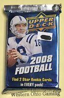 2008 Upper Deck Football Card Pack NEW NFL Sports