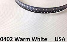 50x Warm White 0402 LED Lamp Light Bulb SMD SMT RC Model Hobby USA