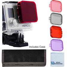 GoPro Hero 3 Filter Kit w/ Soft Case. Red, Purple, Pink, Gray Colors GoPro HERO