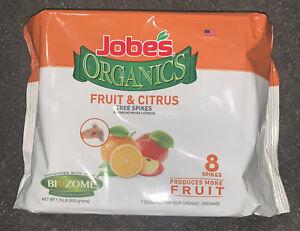 New Jobe's Organics Fruit & Citrus 4-6-6  Fertilizer Spikes  8 pk OW-01212-S