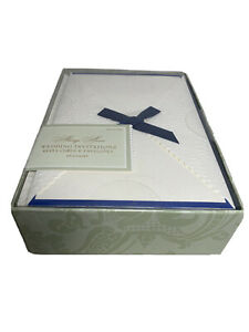 Wedding Invitations DIY 25 Navy Ivory IMPRINTABLE Reply & Envelopes ALWAYS ANNA