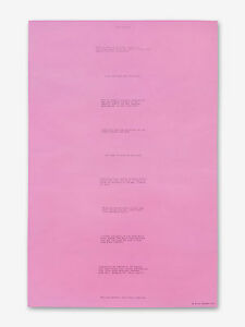 Bruce Nauman Body Pressure Pink Poster 1974 MINT Pristine Dia:Beacon Edition