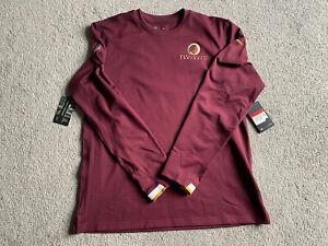 RARE New Nike Washington Redskins Dri-Fit Crewneck Pullover Men's Large L