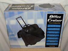 Monarch Black Wheeled Portfolio Laptop Rolling Carry On Briefcase Bag 16 1/2 x13