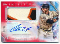 CHRIS SHAW RC 2019 TOPPS INCEPTION ROOKIE PATCH AUTO #5/25 GIANTS RPA